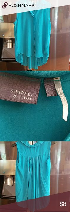 Beautiful High low Shirt Teal Color-Small Beautiful High low Shirt Teal Color-Small Sparkle & Fade Tops