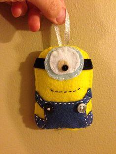 Felt minion ornament