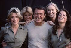 Robert Conrad, Nancy Conrad, Denise DuBarry, Brianne Leary, and Kathy McCullen in Baa Baa Black Sheep Great Tv Shows, Old Tv Shows, Black Sheep Squadron, Robert Conrad, Baa Baa Black Sheep, Conrad Black, Star Pictures, Steve Mcqueen, Classic Tv