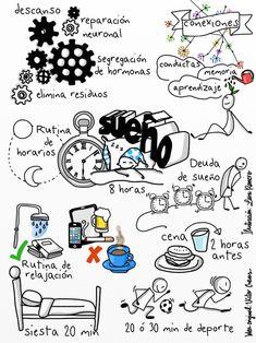 El sueño. Artista: Lara Romero Visual Map, Visual Thinking, Sketch Notes, School Notes, Book Projects, Book Journal, Bullet Journal, Study Motivation, Art For Kids