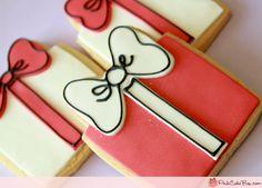christmas present gift box cookie