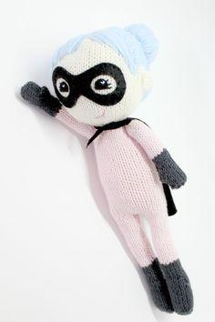 Knitted Superhero Pattern  PDF Knitting Pattern Super Sally