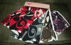 4 Pc Retro Meridian Textiles Fabric Sample by VintageClothesNJunk