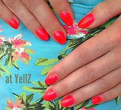 Happy Summer is here again.   #summernail #redneon #acrylicnails