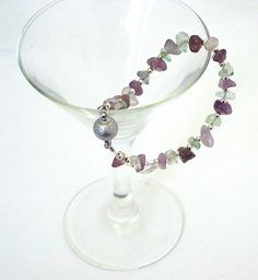 Amethyst and Fluorite Bracelet  With Sparkle Magnetic by Pookledo, £8.00