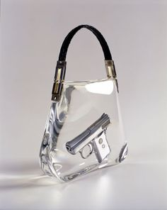 """ipocrisia  """" Ted Noten Superbitch Bag 2000 Work  Gun casted in acrylic,  snake skin handle Dimensions  (via The dreamy jewellery of Ted Noten 27b30df4991"""