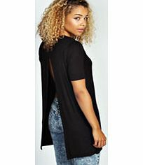 boohoo Open Back Longline Tee - black azz26881 Transform the basic tee from bland to bad ass with this out-there open back design. Style it with your staple skinny jeans , metallic creepers and a cross body bag . http://www.comparestoreprices.co.uk/womens-clothes/boohoo-open-back-longline-tee--black-azz26881.asp