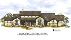 John Hagy Custom Homes - Housen ideen Rustic Country Homes, Country Home Exteriors, Hill Country Homes, Country House Plans, Texas Farmhouse, House Exteriors, Austin Stone Exterior, German Houses, Farmhouse Architecture