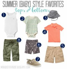 summer style for baby boys.