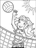 Volleybal kleurplaat