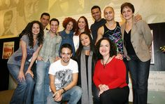 Original Broadway Cast~(L-R rear) Mandy Gonzalez, Carlos Gomez, Robin de Jesus… Priscilla Lopez, Mandy Gonzalez, Theatre Geek, Musical Theatre, Robin, Bonnie Clyde, Manhattan Nyc, Legally Blonde, Dear Evan Hansen