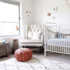 The sturdy, timeless Reese Cot is reminiscent of classic metal cribs with its simple curves, solid white finish, and stationary side rails.