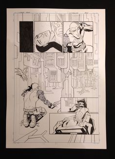 MIXMANCER (Page 6) - Livin' astro in the PARLIAMENT OF GROOVE! Original pencils by Carlos Trigo on a 210x420mm, 200g sheet. Back the Kickstarter to own!