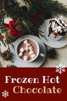 Whether you enjoy your hot chocolate frozen or traditional, we have the perfect cup for you!