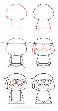 A simple character with a cute hat on the head, learn how to draw a child that can be achieved by anyone, even young kids!