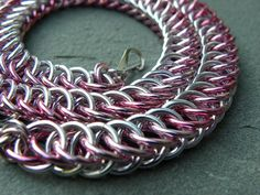 Breast Cancer Awareness Half Persian Pink Anodized by Dajamana, $75.00