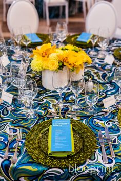 Blueprint Studios partnered with Got Light for the production of the San Francisco Symphony's 2013 Opening Night Gala. Centerpieces, Table Decorations, Yellow Wedding, Opening Night, Event Decor, Event Design, Fundraising, Tablescapes, Design Elements