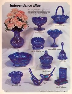 Vintage Fenton Ad, January 1976 Page 12 Fenton Glassware, Antique Glassware, Fenton Lamps, Vintage Bottles, Antique Bottles, Vintage Perfume, Cobalt Glass, Cobalt Blue, My Glass