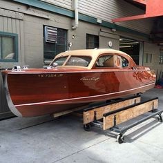 Siera Boat Co. varnished, stained and refitted this 22' Chris-Craft Custom Sedan.