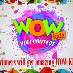 1. Click your Holi selfie and upload or tag us on any or all of our platforms. You can also use #wowkidz while uploading photos.  a.facebook.com/wowkidztv  b.instagram.com/wowkidztv  c.twitter.com/wowkidztv  2. Tag us and your 3 friends on whichever social platform you choose.  3.Subscribe to us on youtube (link given in bio)  4.Give away worldwide! Multiples entries allowed.  5. Contest ends25th March! Have a safe and Super Duper Happy HOLI!