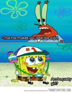 SpongeBob never has a bad answer…I would seriously always wait for this episode to come on.