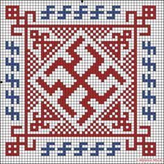 Автор - ВЕДУНЬЯ_МИРОСЛАВА . Это цитата этого сообщения Славянские обереги - схемы вышивки. Автор побдорки- Велеславова .   «Молвинец» Обереговый символ,…