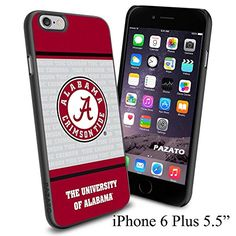 """NCAA A THE UNIVERSITY OF ALABAMA , Cool iPhone 6 Plus (6+ , 5.5"""") Smartphone Case Cover Collector iphone TPU Rubber Case Black Phoneaholic http://www.amazon.com/dp/B00VVPRO3O/ref=cm_sw_r_pi_dp_IgHnvb1AMQ0EM"""
