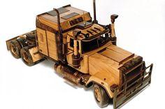 Mack truck wood