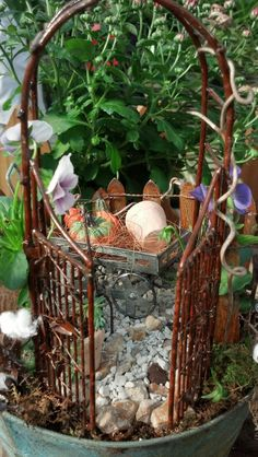 Small table fairy garden