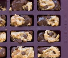 Brownie meets chocolate chip cookie in this genius combination! Epicure Recipes, Baking Recipes, Dessert Recipes, Pampered Chef, Delicious Desserts, Yummy Food, Brunch, Biscuit Recipe, How Sweet Eats