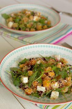 Cinco Quartos de Laranja: Salada de abóbora e beterraba assadas com cuscuz