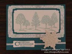Scrapbook Christmas card Lovely as a Tree Christmas Card