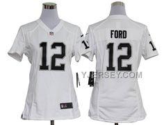 http://www.yjersey.com/nike-raiders-12-ford-white-women-game-jerseys-discount.html NIKE RAIDERS 12 FORD WHITE WOMEN GAME JERSEYS DISCOUNT Only 36.00€ , Free Shipping!