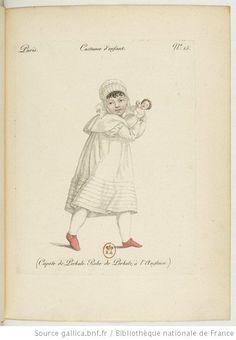 Costume d'enfant. Capote de [percale]. Robe de [percale] à l'anglaise.