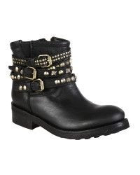 Ash Mexican Boots Tatum Gold Studs Black Leather in Black (NERO) | Lyst