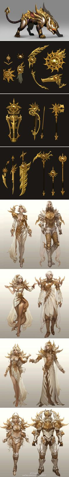 White and Gold Dynasty. King Regalia Idea