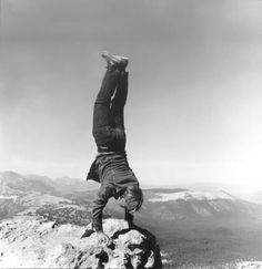 Robert Kinmont, from the series 8 Natural Handstands
