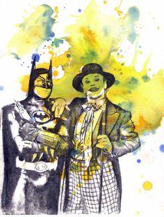 Items similar to Batman and the Joker Watercolor Painting - Original Watercolor Painting X 11 in. on Etsy Batman Poster, Batman Art, Watercolor Paintings, Original Paintings, Joker Art, Print Coupons, Free Prints, Popular Culture, Creative Art