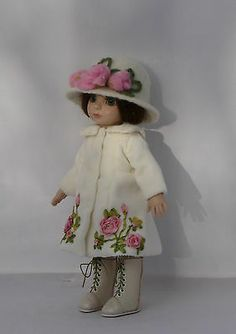 """Roses for Patsy"" Coat, Hat, Boots for 10"" Tonner Patsy Doll"