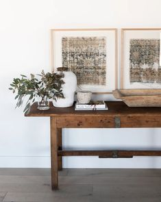 Home decor, and furnishings, curated by the designers at Studio McGee. Vintage Frames, Vintage Decor, Vintage Furniture, Vintage Rugs, Trestle Table, Large Table, Wood Pieces, Inspired Homes, Living Spaces