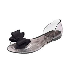 d1daedb209a4f RAISINGTOP Women Flip Flops with Bow Clear Jelly Flat Shoes Casual Indoor  Sandals de Mujer Comfortable