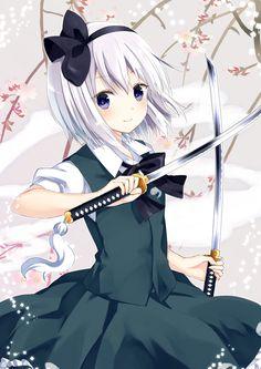 Look at my eyes, not my ... swords.