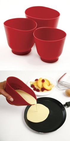 Norpro 3 Piece Silicone Bowl Set, Red, Norpro's Silicone Bowl Set is a terrific new idea. Squeeze sides to pour with one hand and mix or scrape with the other hand.  Pour into narrow mixer, food processor, cake or muffin molds and containe..., #Kitchen, #Mixing Bowls, $26.06