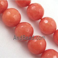 Ruby Jade Beads, stability, faceted round dia, approx per st Jade Beads, Stability, Red