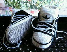 Knit Adidas booties