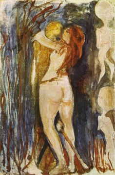 Edvard Munch - Death and the Young Girl, 1894 - Munch Museum, Norway