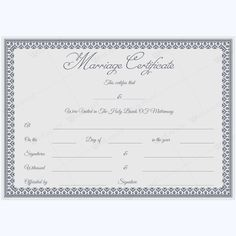 Marriage Certificate 30 | Certificate And Template