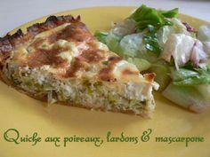 Quiche aux poireaux, lardons et mascarpone | Cuisinefacile.fr