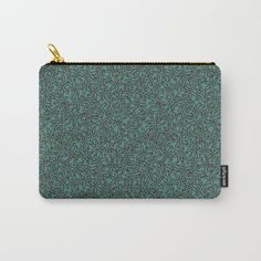 Perfect gift idea! It can be used for toiletries, art supplies, makeup and smaller electronics. Carry-all pouch is avilable in different sizes. | #pouch #society6 #murkydesign #pattern #patterndesign #mint #flower #floral #anise Organize Your Life, Art Supplies, Carry On, Pattern Design, Zip Around Wallet, Pouch, Mint, Electronics, Flower