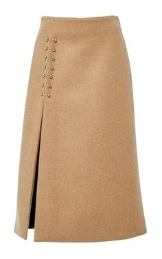 Fashion Advice Anyone Can Use To Look Good! Bonded melange wool pierced slit skirt by Sally Lapointe Slit Skirt, Dress Skirt, Fashion Details, Fashion Design, Raglan Shirts, Mode Style, Fall Dresses, Skirt Outfits, A Line Skirts